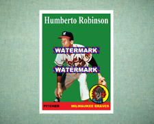Humberto Robinson Milwaukee Braves 1958 Style Custom Art Card