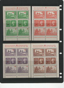 GREAT BRITAIN RED CROSS 1940 MNH 5 -SHEETS CINDERELLAS MAYORS ST. JOHN.S FUND