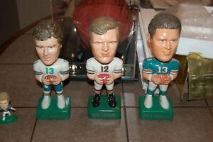 SAMS Dan Marino - Green + Bob Griese - White + Dolphins mini helmet new in box