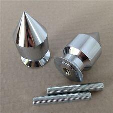 Chrome Spike Swingarm Spool 10mm Thread For Kawasaki Ninja ZX-9R ZX900 1998-2003