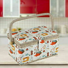 More details for home extra large  sewing craft box household storage basket painted