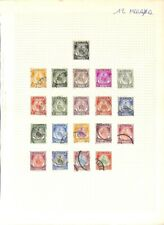 [OP1102] Malaya lot of stamps on 12 pages