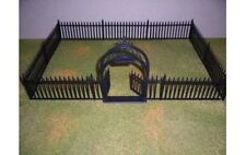 Marx Recast Plastic Wrought Iron Plastic Gate And Fence Set NEW In Baggie!