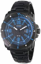 Citizen Eco Drive Black Ion Stainless Steel Black Dial Date BM7277-50E