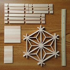 kumiko Hemp Leaf Assembly Work Coaster Assembly Kit (larger)