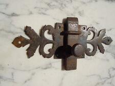 Targette fer forgé décor feuille d'époque 17ème