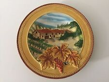 """Fitz and Floyd Del Vino FF Handcrafted Round Platter, 12 1/2"""" Dia x 1 1/4"""" High"""