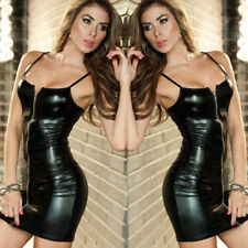 Valentine's Day Women Sexy Lingerie Underwear Wet Look Mini Bodycon Dress Gifts