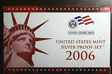 2006-S US Mint Silver Proof Set Includes Silver State Quarter Proofs - Box & COA