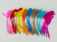 "10 pcs Stripped Coque Feathers Milliner Crafts 5-7"" Jewellery Decorative"