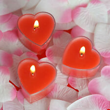 "12 pcs 2"" Red Heart Votive Tealight Candles Wedding Party Centerpieces Supplies"