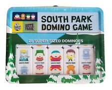 South Park Domino Game Lunchbox Storage Tin 28 Super Sized Dominoes New