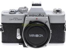 Minolta SRT-201 (SRT 101b) reflex a pellicola, otturatore meccanico. Funzionante