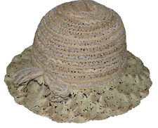 Jeanne Simmons Women's Summer Beach Cloche Hat with Bow