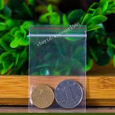 100 5X7cm  Ziplock Bags 2MIL Clear Plastic BAG RECLOSABLE Zipper Small Bags