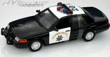 MOTORMAX 1:18 2001 FORD CROWN VICTORIA CHP DIE-CAST B&W 73501