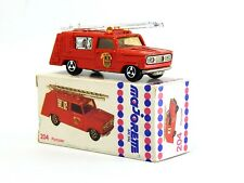 Pompier Fire Brigade Truck 204 1975 Vintage Toy Car with Paper Box 1:80 1:64