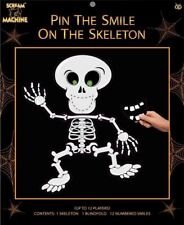 Halloween Party Game Pin the Smile on the Skeleton Fun Decorations 12 players
