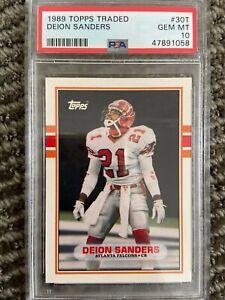 1989 Topps Traded Deion Sanders #30T Rookie Card PSA 10 GEM MINT