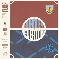 Brand New Burnley v Everton Programme - 19/20 Premier League - FREE UK P&P