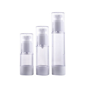 Mini Portable Airless Bottle Cosmetic 15/30/50ml Pump Cover Travel Skincare wy