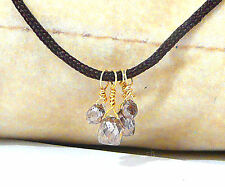 """brown diamond necklace 18k gold 16"""" high quality briolette"""