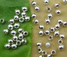 500pcs silver metal round spacer beads 3mm JK0209