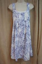 Jessica Simpson Dress Sz 2 Tie Dye Blue White Multi Business Evening Dress