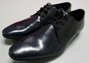 NEW Ben Sherman EU 41 US 8 Blue Leather Formal Dress Business Shoes Lace-Up $190