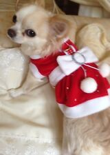 PET CHRISTMAS SANTA DRESS / COSTUME / SIZE XSMALL
