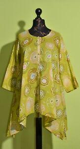 Gudrun Sjoden Ladies Tunic Dress Yellow Size M