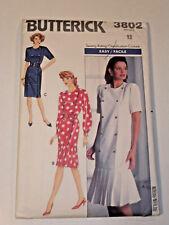 B-3802 Dress Sewing Pattern Butterick Size 12 Complete