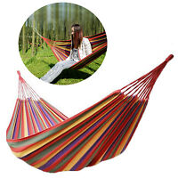 Double/single Hammock Cotton Rope Outdoor Swing Camping Hanging Canvas Bed Size
