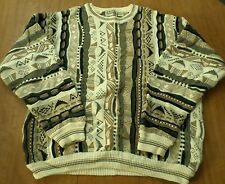 COTTON TRADERS knit sweater XL outrageous 1980s Tribal Dynamite kitschy Zulu OG
