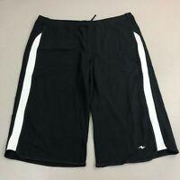 Athletic Works Black White Knit Capri Pants PLUS Sz 1X Pull On Drawstring
