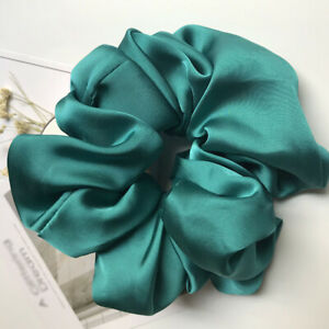 Candy Color Oversized Hair Scrunchies Elastic Rubber Bands Smooth Satin Headwear