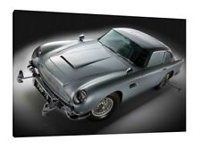 Aston Martin DB5 - 30x20 Inch Canvas - Bond Car 007 Framed Picture Poster Print