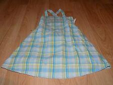 Girls Size 4 Gymboree Rainbow Sherbet Blue Green Plaid Sundress Sun Dress EUC