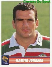 072 MARTIN JOHNSON  LEICESTER TIGERS STICKER PREMIER DIVISION RUGBY 1998 PANINI