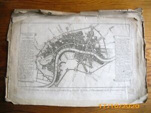 LONDON MAP As fortified by Order of Parliament 1642 & 1643