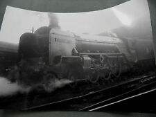"Vtg B&W Photo British Loco #126 A2 Class 60512 ""Steady Aim"" Train Locomotive"