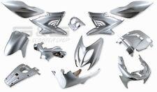Verkleidung Verkleidungsset 12 Verkleidungsteile Silber Yamaha Aerox MBK Nitro