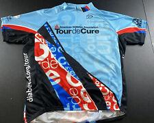 Primal Mens Tour de Cure Diabetes 3/4 Zip Up Cycling Jersey 2XL