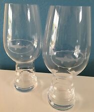 NEW PAIR Dogfish Head IPA Glass, 19oz., Ribbed & Etched, 60 90 Minute, Spiegelau