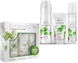 Wella Professionals Elements Renewing Trio Pack (Shampoo+Conditioner+Treatment)