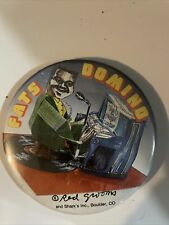 """Fats Domino Red Grooms Logo Button 3"""" Badge Pinback Depicts Groom's Sculpture"""