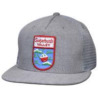 Sugarbush Valley Hat by LET'S BE IRIE - Vintage Vermont Ski Patch, Gray Denim