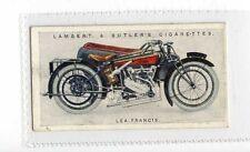 (Jy997-100) Lambert & Butler,Motor Cycles,Lea-Francis,1923 #27