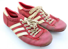 Vintage Adidas Athletic Track Field Running Soccer Football Shoes Red White 9.5