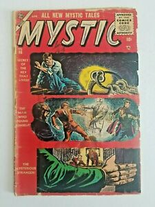 🚚 Mystic Tales No.46 Atlas Golden-Age 10c Horror Comic 1955 see scans HTF